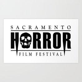 Sacramento Horror Film Festival Black Logo Art Print