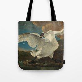 The threatened swan - Jan Asselijn (1650) Tote Bag
