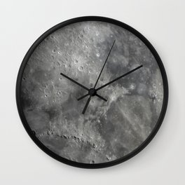 craters on the moon Wall Clock