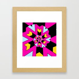 Trippy Spiral Pattern Framed Art Print
