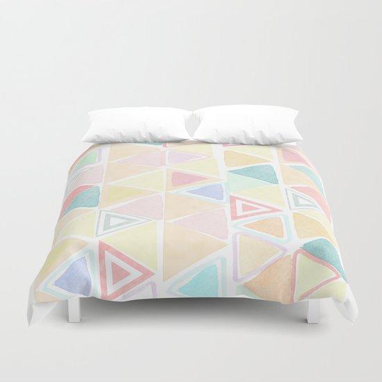 Triangle watercolor fantasy Duvet Cover