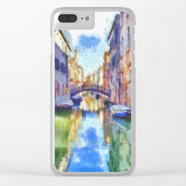 Venice - watercolor - signed Clear iPhone Case