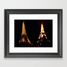 Eiffel Tower(s) Framed Art Print