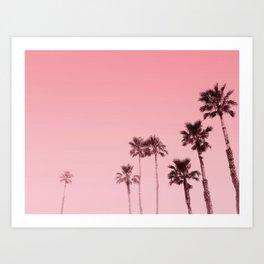 Tranquillity - flamingo pink Art Print