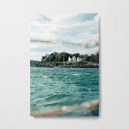 Sailing Past Curtis Lighthouse Metal Print