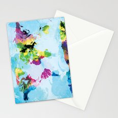 One Colourful World / Blue Stationery Cards