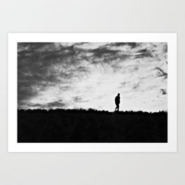 And the last man on Earth dragged on the light... Art Print