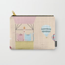 Traveling Tabbies: Hot Air Balloon Carry-All Pouch