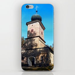 Maria Rast forest chapel | architecture photography iPhone Skin
