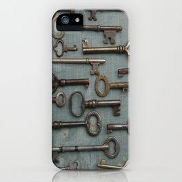 Vintage Skeleton Key Collection iPhone Case