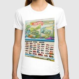1970 Hot Wheels Lineup Store Display Redline Poster T-shirt