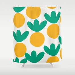 Minimalist Fruit Summer Pattern Shower Curtain