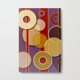 Circles, Lines & Colors Metal Print