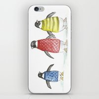 penguins iPhone & iPod Skins featuring penguins by Maria Durgarian
