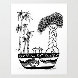 The Bonzai Tree Art Print