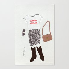 Florida Woman Outfit Canvas Print