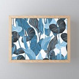 Lush Lily - chambray Framed Mini Art Print