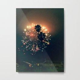 Fire & Palm Metal Print