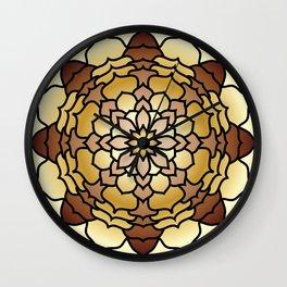 Lotus Flower Mandala Wall Clock