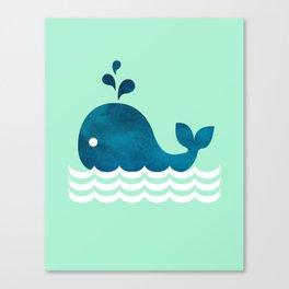 Little Whale Canvas Print