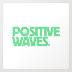Positive Waves (Green) Art Print