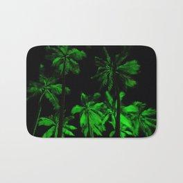 Night green palm trees Bath Mat