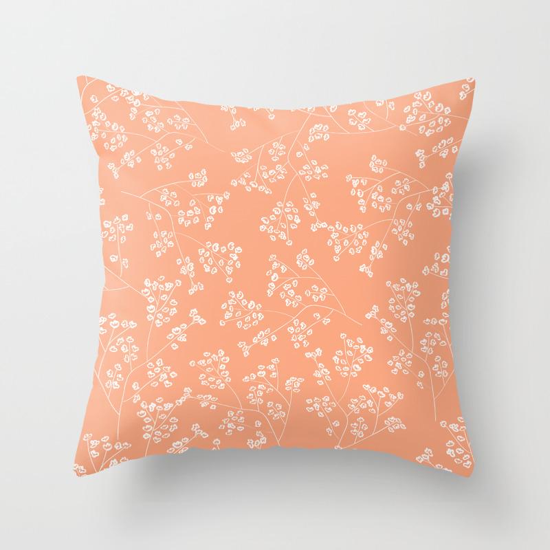 Gisophila Peach Throw Pillow By Aniiiz Society6