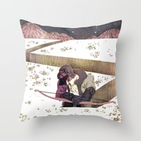 sagittarius Throw Pillows featuring Sagittarius by Leonard Peng