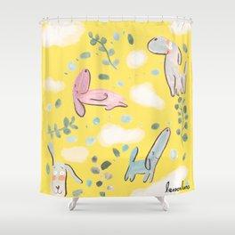 cozy sunday mood Shower Curtain