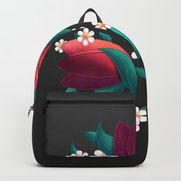 Bouquet (Tulipes et Marguerittes) Noir Backpack