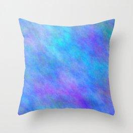 Corn Flower Blue Color Throw Pillow