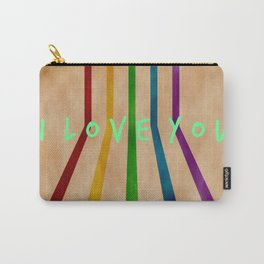 I love you, retro, valentines Carry-All Pouch