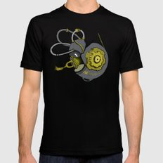 Steampunk Anatomy Cochlea Black LARGE Mens Fitted Tee