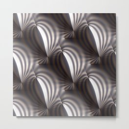 Push and squeeze with misty stripes Metal Print