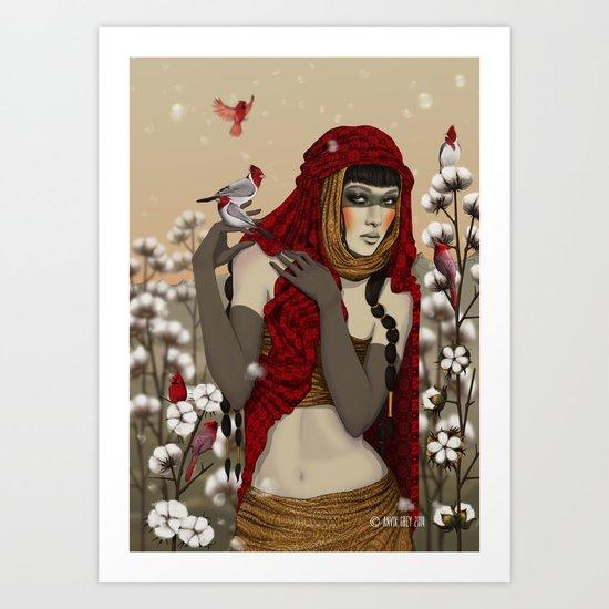 Cotton. Art Print