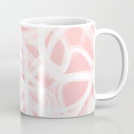 brushstrokes // pink & white Coffee Mug