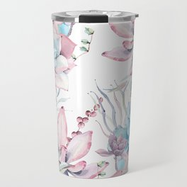 Pretty Pastel Succulents Garden 2 Travel Mug