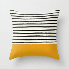 Fall Pumpkin x Stripes Throw Pillow