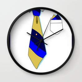 White Collar with Tie in Blues, Series Formal but Not Formal Wall Clock