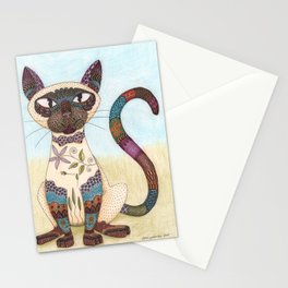 Decorative Siamese Cat Stationery Cards