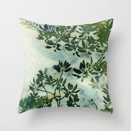 Wallpaper Foliage Throw Pillow