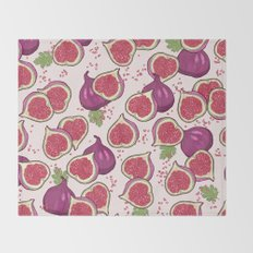 fig pattern Throw Blanket