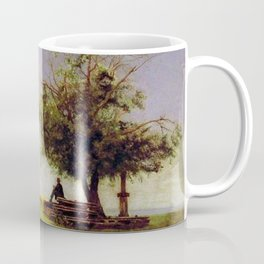 Thomas Eakins - Mending the Net Coffee Mug