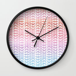 Straight and curved lines - Optical Game 19 Wall Clock