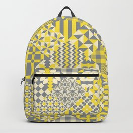 Quilt patterns Illuminating Yellow, Ultimate Gray Backpack