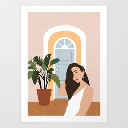 In Front of The House Art Print