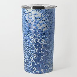 gush of dots in blue Travel Mug