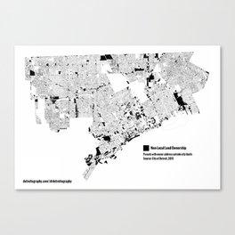 Map: Detroit Non-Local Land Ownership Canvas Print