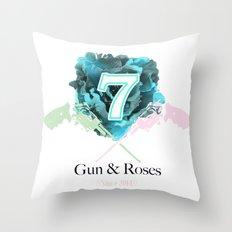 Gun & Roses Throw Pillow