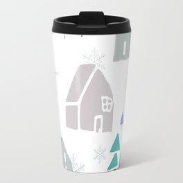 winter holiday houses Travel Mug
